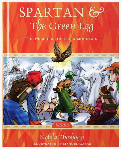 Spartan and the Green Egg, Book 4: Poachers of Tiger Mountain, book cover